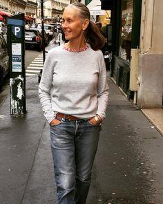 linda v wright 60 Fashion, Mature Fashion, Estilo Fashion, Fashion Over 40, Street Fashion, Fashion Ideas, Linda V Wright, Mode Outfits, Casual Outfits