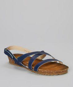 Blue Fayla Leather Sandal #zulily #zulilyfinds