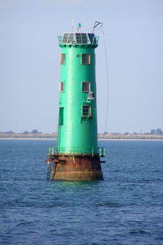 Green Lighthouse, Dublin Harbor-by Woesinger