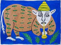 Beast is fifing, Maria Pryimachenko, 1993
