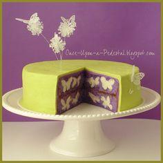 Hidden butterflies cake