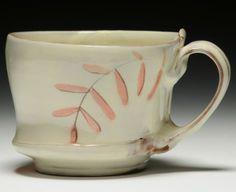 Martina Lantin pink leaf mug
