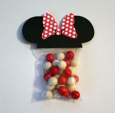 Items similar to Minnie Mouse Favor Party Bags with RED POLKA DOT bow perfect for your Party Shower 25 Count on Etsy Minnie Mouse Favors, Minnie Mouse 1st Birthday, Minnie Mouse Party, 1st Birthday Girls, Mouse Parties, 2nd Birthday Parties, Birthday Party Decorations, Birthday Ideas, Party Kit