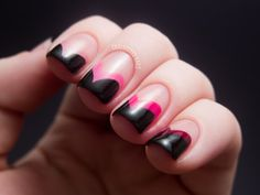 Chalkboard Nails: Pink Fishtail Ombre