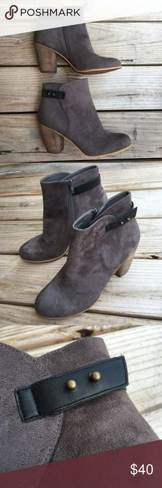 Abound Grey Booties Ankle Heel Boots Abound Grey Booties Heel Boots. Size 12M. Never worn, purchased at Nordstrom. Does not come with box but will be wrapped nicely to prevent any markings while in shipment. Abound Shoes Ankle Boots & Booties