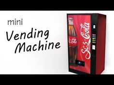 Miniature Soda/Drink Vending Machine - Paper & Polymer Clay Tutorial - YouTube