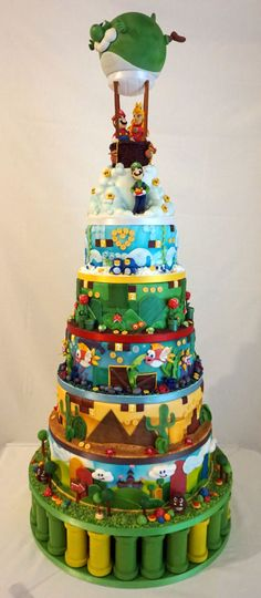 Super Mario World wedding cake