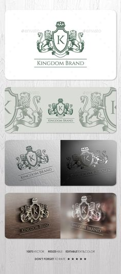 Kingdom Brand — Vector EPS #investment #shield • Available here → https://graphicriver.net/item/kingdom-brand/14995542?ref=pxcr