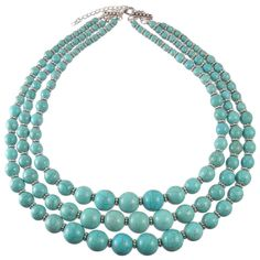 Tori Turquoise Bead Necklace from HandPicked
