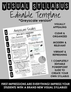 Visual Syllabus Editable Template -- Create your own -- GR Middle School Syllabus, Maths Syllabus, Middle School English, Beginning Of School, Syllabus Ideas, Middle School Classroom, English Classroom, Math Classroom, Classroom Tools
