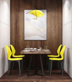 "Apartament 3 camere - Complex ""Nordis"" București - Creativ-Interior Minimalism, Dining Table, Creative, Interior, Modern, Furniture, Design, Home Decor, Granite Counters"