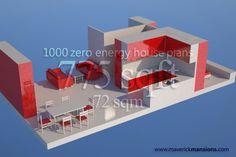 Zero energy, sustainable house plans. Zero energy houses.