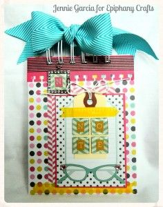 Square Notes - July Tool of the Month | Epiphany Crafts - project by Jennie Garcia