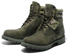 Timberland for Kinetics 6 inch Double Collar Boot [OLIVE DRAB] a1isi