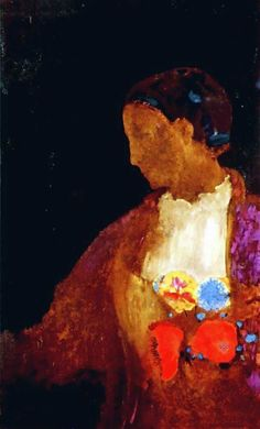 The Doge's Wife   Odilon Redon   oil painting