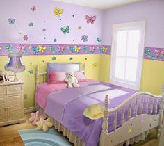 Dormitorios para ni�as con mariposas