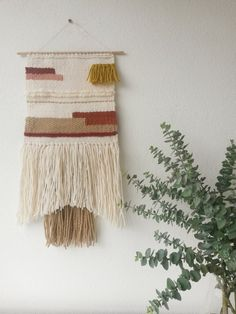 Hand woven wall hanging Woven tapestry door lifeundertheoaktree, $100.00