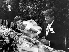 JFK & Jackie's Wedding Day. 60 yrs ago. This proves Jackie O. is THE style icon ...so timeless and such a beautiful wedding