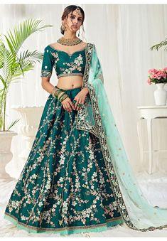 Morpich Embroidered Silk Bridal Lehenga Choli