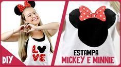 Estampa Mickey e Minnie=DiY