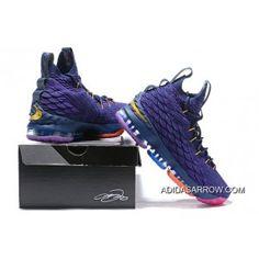 aada1344074 Best Nike LeBron 15 PE Purple Multi-Colour