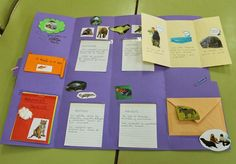 Maestra de Primaria: Lapbook sobre los animales School Hacks, School Projects, Lap Book Templates, File Folder Games, Thanksgiving Activities, Animal Books, Science, Animal Projects, How To Speak Spanish