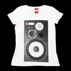 #777 #tshirt #speaker #vintage #hifi #jbl #front http://sklep.galeria777.pl/pl/p/T-SPEAKER-lady/119 https://www.facebook.com/Tshirt777