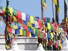 Gebedsvlaggen bij Boudhanath