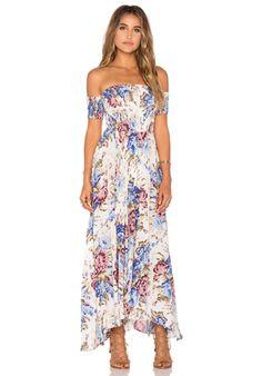 AUGUSTE Boheme Goddess Maxi Dress in Texan Bloom Natural | REVOLVE