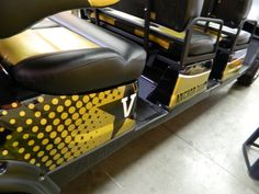 Close up of graphics for Vanderbilt football golf cart. 12-Point SignWorks