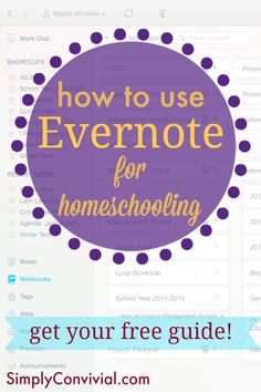 How to use Evernote for homeschooling. Evernote is your file cabinet, your inspiration board, your planner, and more! Use Evernote to keep your homeschool organized.
