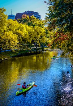 Perfect Weather For Kayaking In Boston Photograph