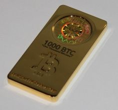 Bicoin Gold bar A 1000 BTC gold bar with the key embedded.  This is my new favorite thing :)