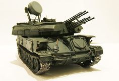 ZSU-23-4V1 Shilka Self-Propelled Anti-Aircraft Gun 1/35 Scale Model