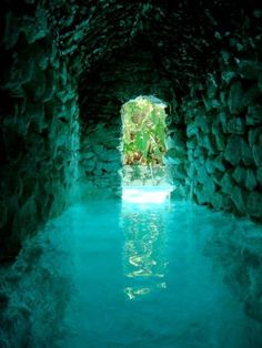INSPIRATION  (another of the interior chambers -- with subterranean river -- in the Secret Grotto on the Isle of Avalyn)