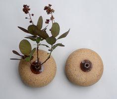 Dana Bechert Ceramics                  - Boob Vase Pair - Medium