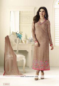 Faux Georgette Straight Long Prachi Desai Salwar Kameez