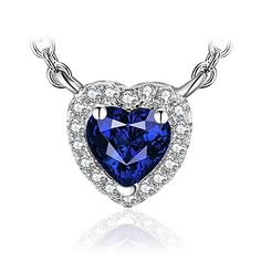 B.Catcher Jewellery Angel Tears Necklace Blue Teardrop Gems Cubic Zirconia Silver Necklaces gknvD