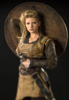Lagertha. Not the best pose for a shieldmaiden, though...