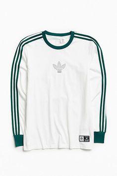Shop adidas Club Long Sleeve Tee at Urban Outfitters today. We carry all the latest styles, colors and brands for you to choose from right here. Adidas Long Sleeve Shirt, Long Sleeve Shirts, Addidas Shirts, Best Mens T Shirts, Look Adidas, Skater Girl Outfits, Adidas Fashion, Adidas Outfit, Mens Clothing Styles