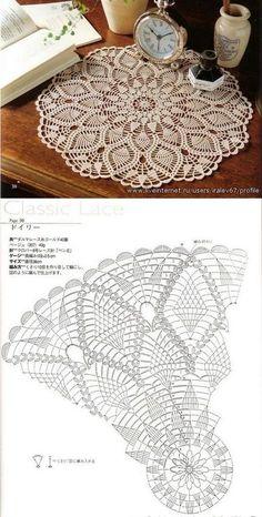 Baby braids newest knitting patterns – Part 2 Free Crochet Doily Patterns, Crochet Doily Diagram, Crochet Circles, Crochet Motifs, Thread Crochet, Filet Crochet, Stitch Patterns, Knitting Patterns, Crochet Carpet