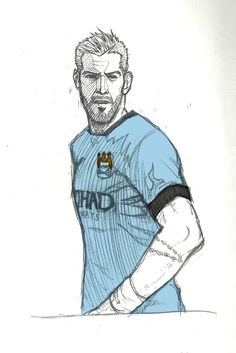 Manchester city fan art Alvaro Negredo