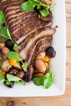 Trifecta of FLAVOR: Beef tri-tip recipe with roasted figs, tomatoes, and onions