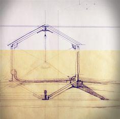 SALT Architects - Concept Sketch for Garden Pavilion