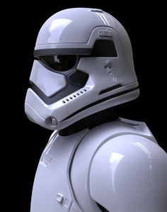 First Order Stormtrooper WIP, Darren Pattenden on ArtStation at https://www.artstation.com/artwork/first-order-stormtrooper-wip