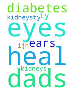 god please heal my dads eyes, ears, diabetes and kidneys.ty - god please heal my dads eyes, ears, diabetes and kidneys.ty ijn amen Posted at: https://prayerrequest.com/t/RcC #pray #prayer #request #prayerrequest