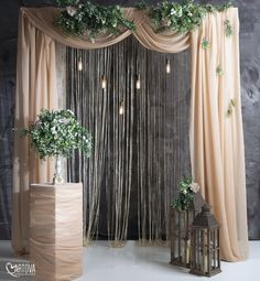 Outdoor wedding decoration ideas jihanshanum party ideas luxe santa fe wedding with a lush floral chuppah Diy Wedding Backdrop, Diy Backdrop, Outdoor Wedding Decorations, Backdrop Decorations, Ceremony Decorations, Outdoor Weddings, Diy Engagement Decorations, Indoor Wedding Arches, Fiesta Decorations