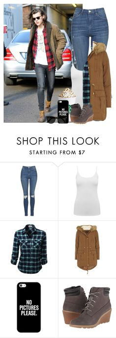"""""""Out and About with Harry"""" by remington-offical ❤ liked on Polyvore featuring Topshop, M&Co, Dorothy Perkins, Casetify, Timberland and Ray-Ban"""