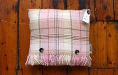 Pink huntingtower woollen cushion www.waringsathome.co.uk