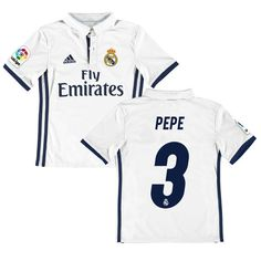 f9117126696 ... Soccer Tracksuit Pepe Real Madrid adidas Youth 201617 Home Replica  Jersey - White ...